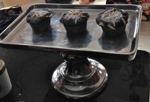 A wintry Sunday afternoon teatime treat... Double Chocolate Cupcakes.